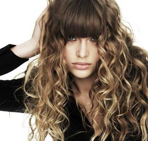 Greatest Curly Hair With Bangs Long Hairstyles Curly Hair Styles Curly Hair Fringe Long Hair Styles Men