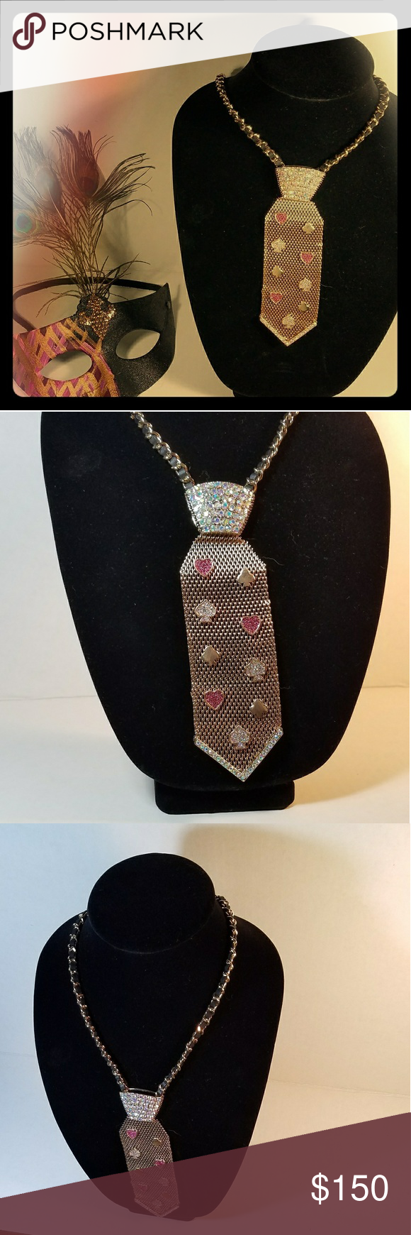 Betsey Johnson Tie Necklace NWT~ trendy tie necklace ready to spice up your outfit! Betsey Johnson Accessories