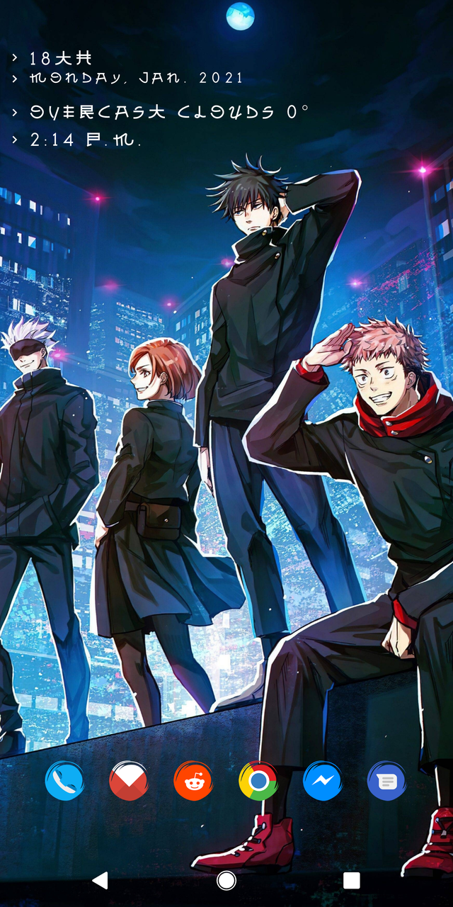 Theme Jujutsu Kaisen Androidthemes In 2021 Jujutsu Yandere Anime Cool Anime Wallpapers