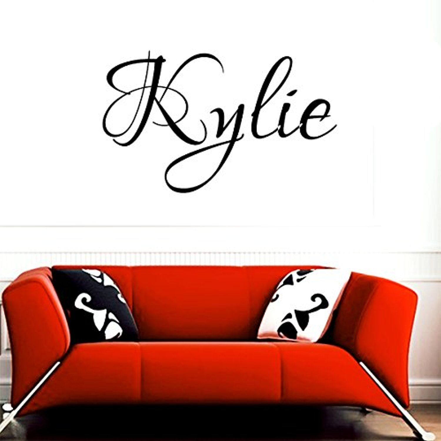 Kylie girl name boy name letters childrens room vinyl wall art