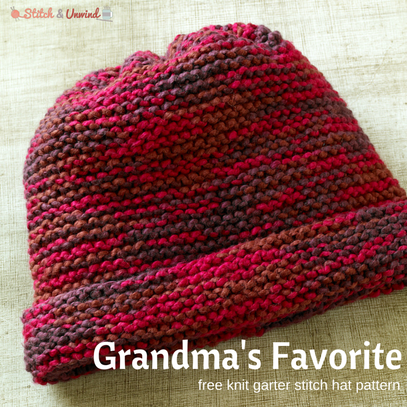 Simple Knit Hat Pattern Free : Grandmas Favorite knitting for beginners Pinterest Knitted hat pat...
