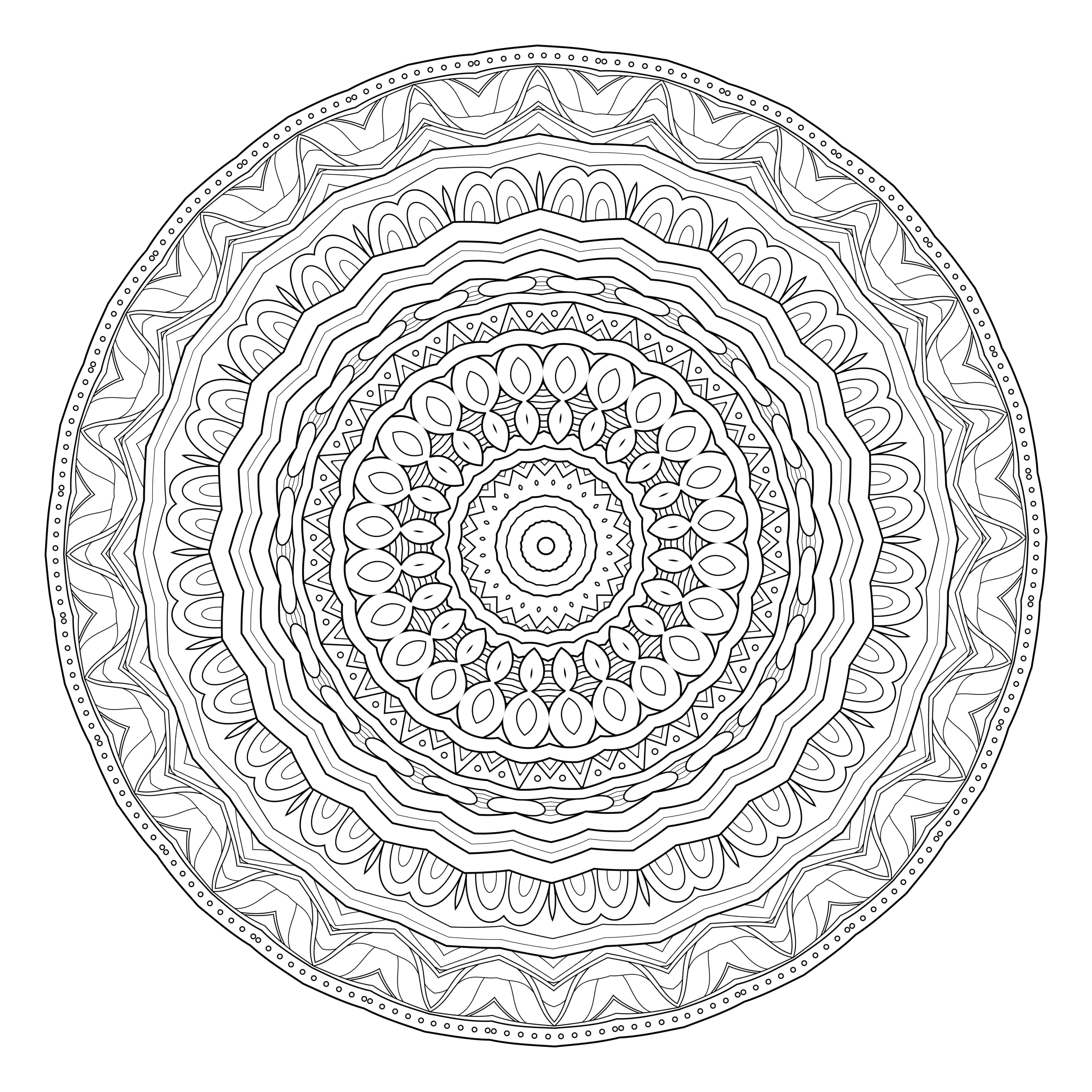 5 free printable coloring pages mandala templates coloring mandala coloring pages. Black Bedroom Furniture Sets. Home Design Ideas