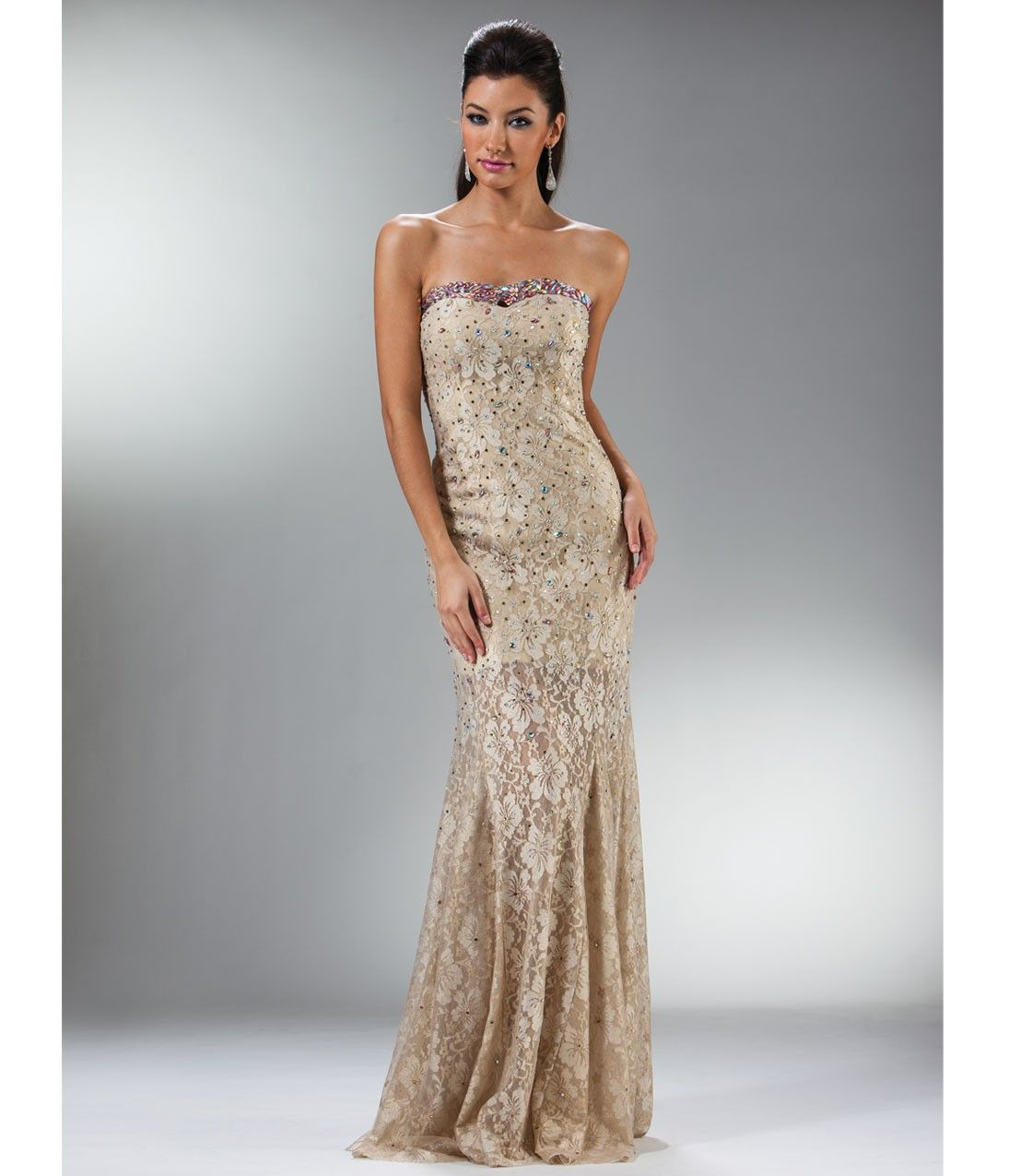 Prom_Dresses-Gold_Hibiscus_Lace_Mermaid_Gown | Aesthetic Gold ...