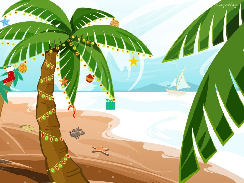 Christmas Palm Tree Clipart Clipart Kid Tropical Holiday