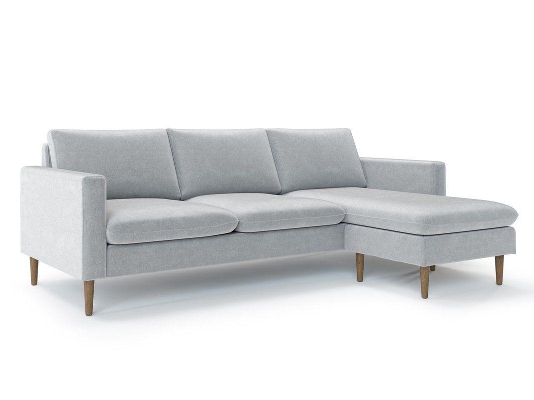 Berndt Reversible Sectional Reviews Allmodern Sectional Sofa