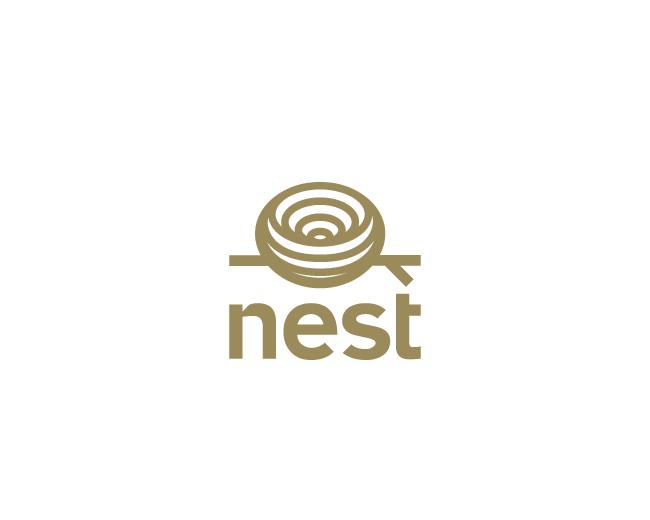 Nest Logo Design Logomark Logotype Bird S Nest Wood Branche Brown Nest Logo Identity Design Logo Logo Design
