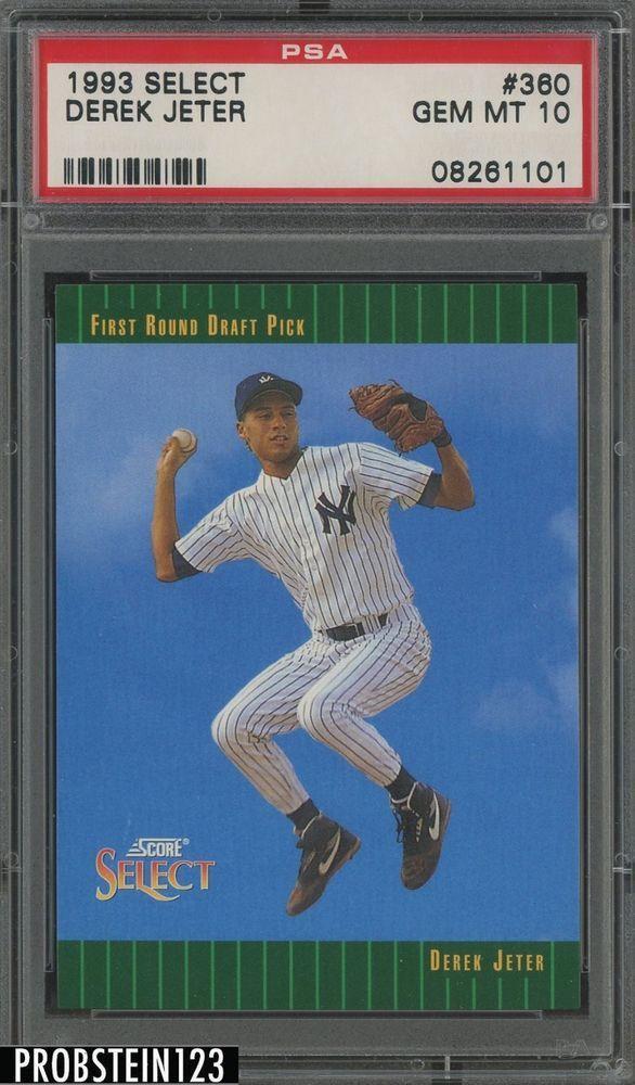 Derek Jeter 1993 RC rookie Pinnacle #457 PSA 9
