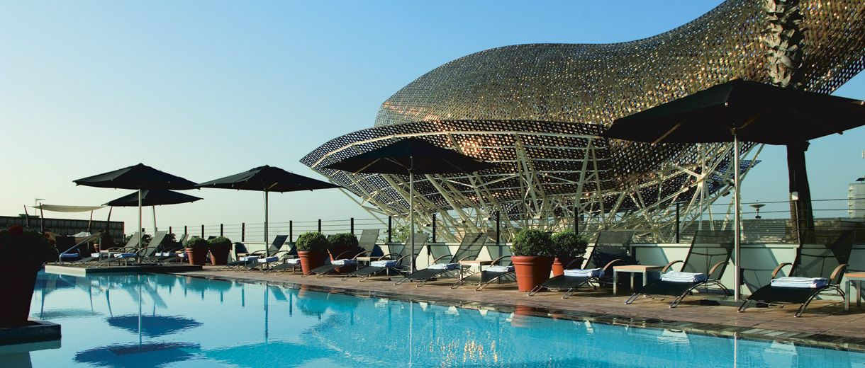 By The Poolside At Hotel Arts Barcelona Ritz Carlton Spain