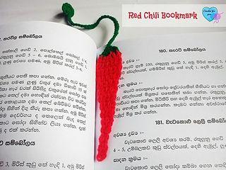 Red Chilli bookmark... Free pattern!