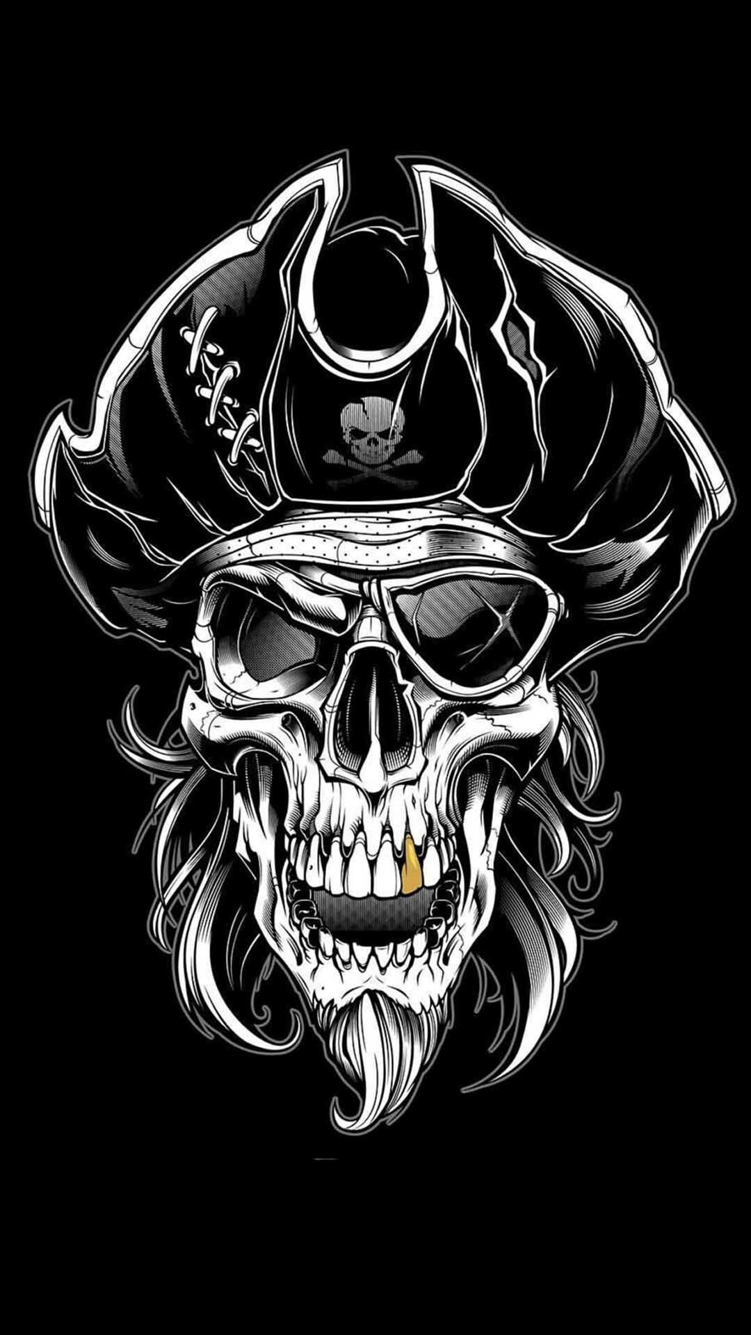Pin By Hendie Purwiliarto On Phone Backgrounds Hipster 12 Pirate Skull Tattoos Skull Pictures Skull Wallpaper