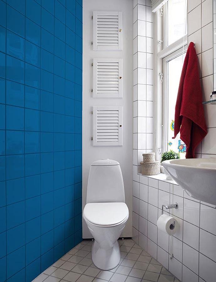 Azulejo pintado com tinta ep xi ba os banheiros azulejos azulejos pintados y ba os - Banos azulejos pintados ...