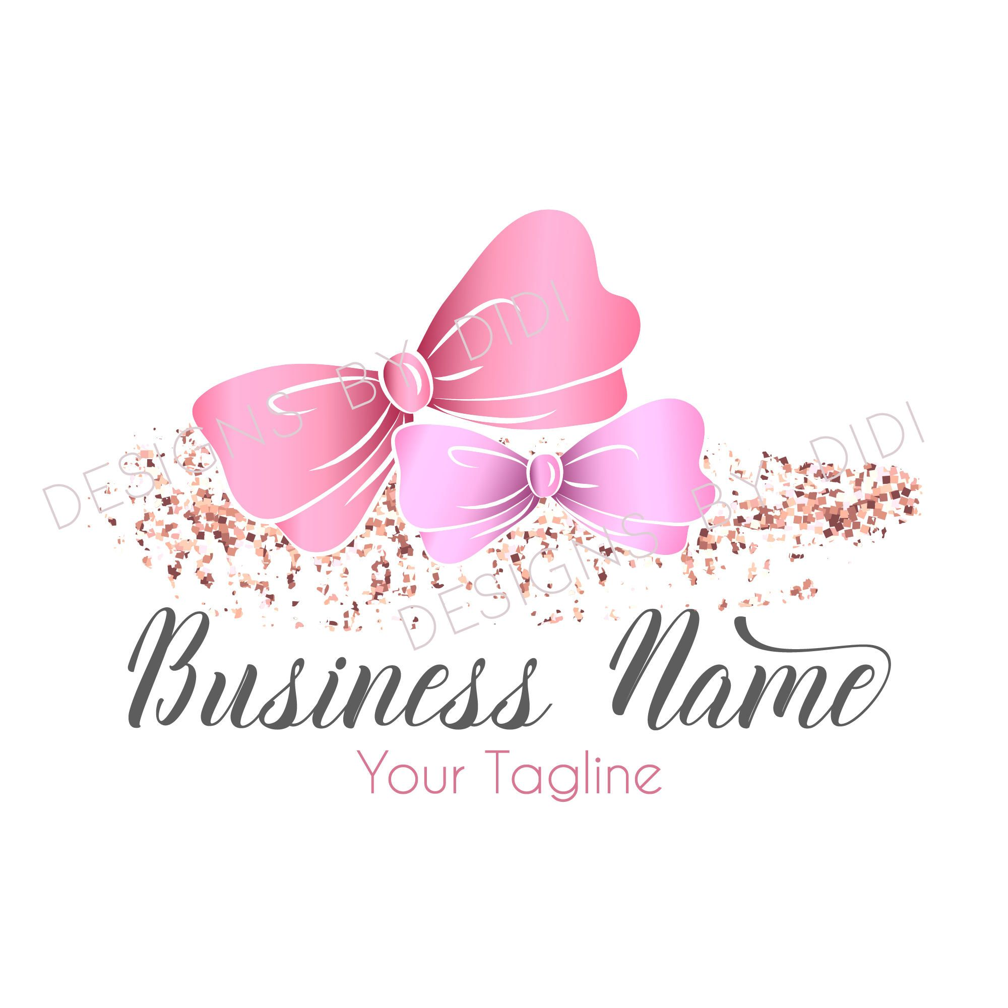 Custom logo design, Original girlish gold pink Logo design, Professional Business Logo, graphic design,chic logo,cute logo,feminine logo -   11 makeup Logo cartoon ideas