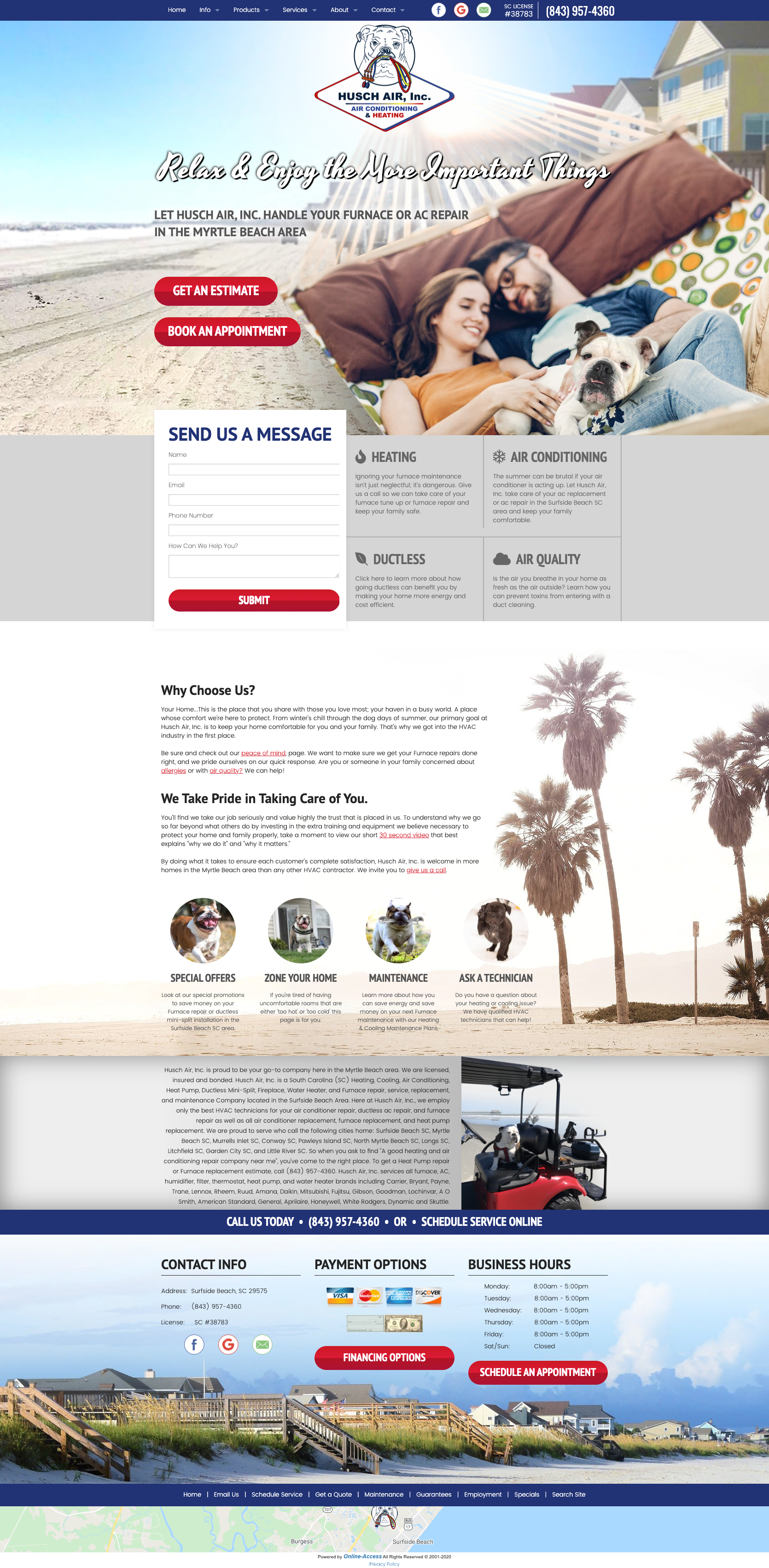 Locational Heating And Air Conditioning Website Design Tropical