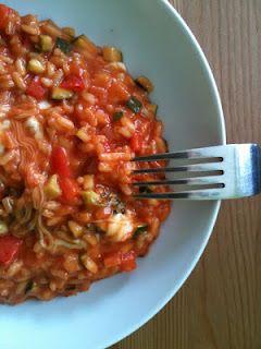 Tomaten-Gemüse-Risotto