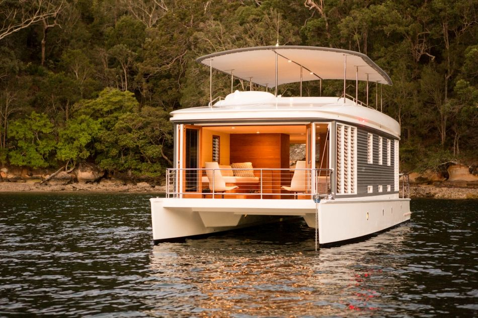 worlds first solar powered houseboat tropical barge ideas and