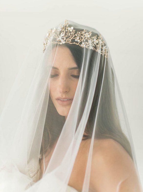 Wedding Crowns and Tiaras: Wear Them With (or Without) a Veil!