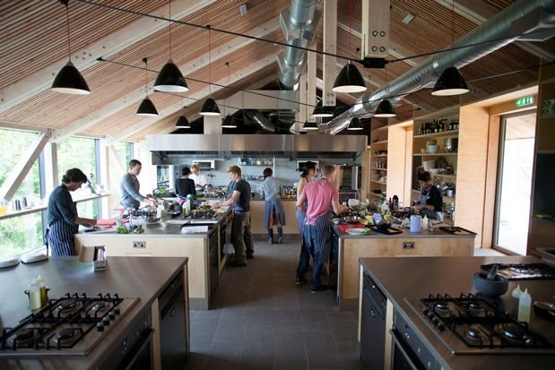 Our New Chefs School Was Here For River Cottage Seaside Foraging So Fun Cooking School Kitchen Cooking School Interior Cooking School Design