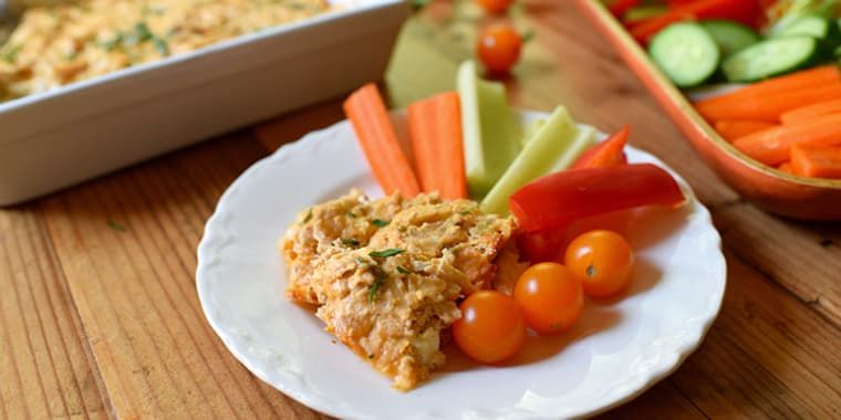 Skinny Buffalo Chicken Dip Recipe (21 Day Fix- 1/2 Green, 1/2 Red, and 1/2 Blue)