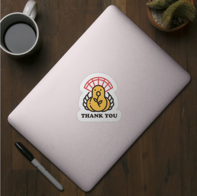 Thanksgiving 2019 Thank You Sticker