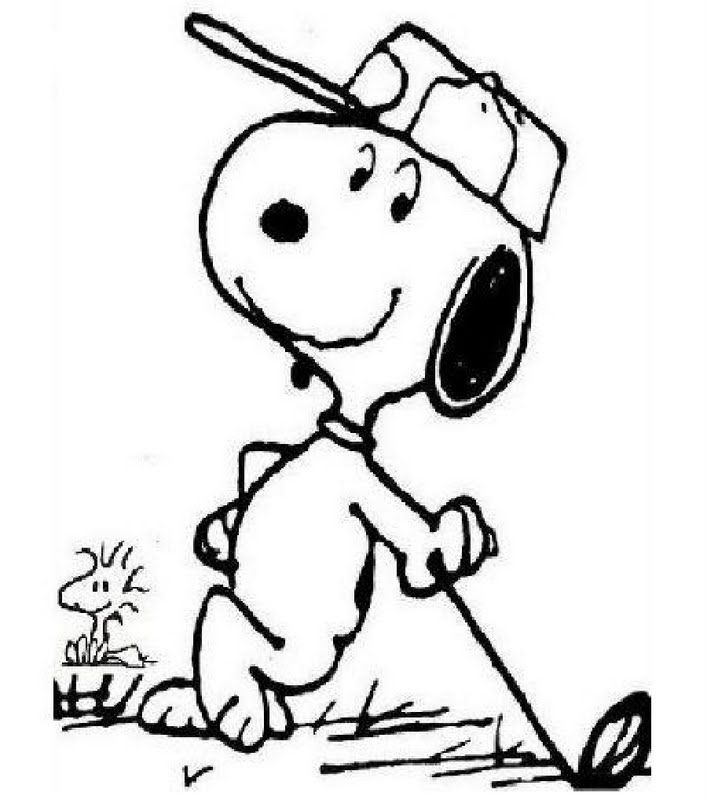 Golf Snoopy Snoopy Coloring Pages Coloring Pages Snoopy