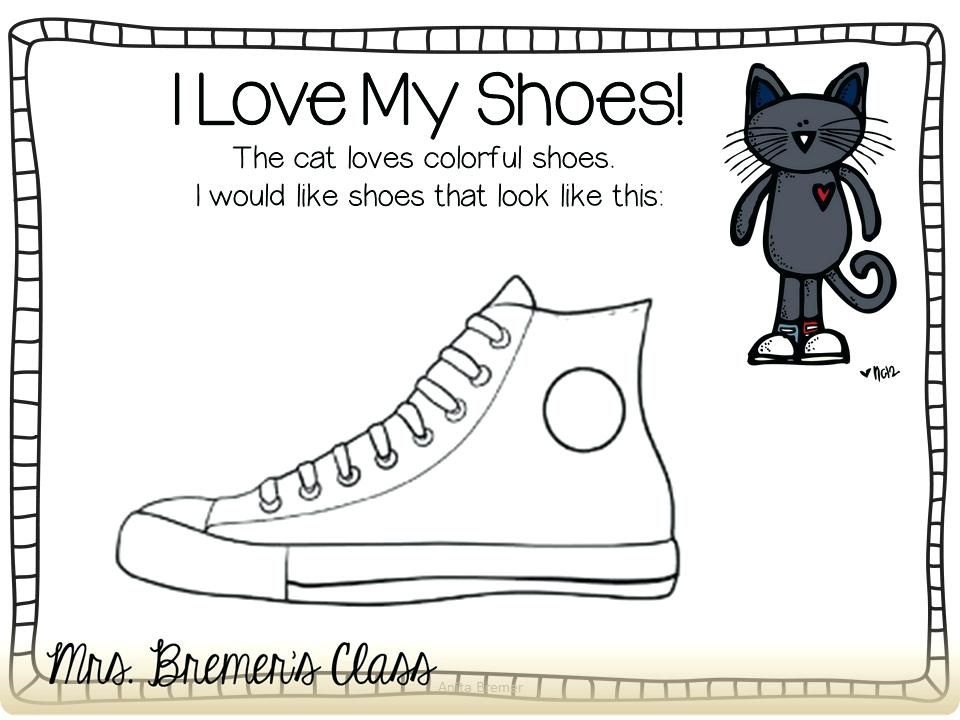 Pete The Cat Coloring Page Free Printable I Love My White Shoes Pete The Cat Shoes Pete The Cat Pete The Cats