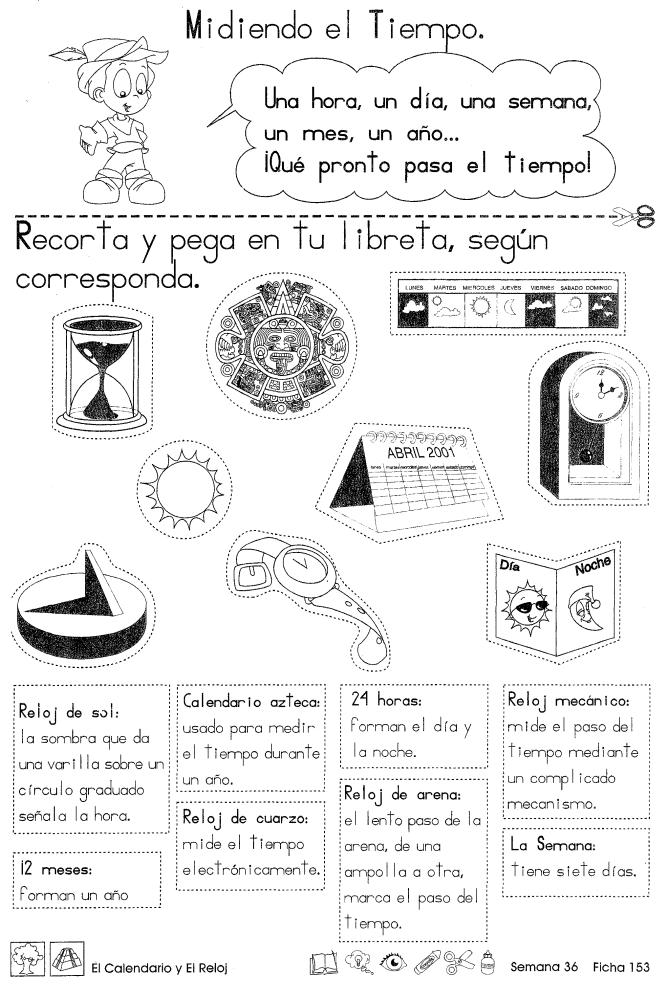 El calendario y el reloj | Spanish | Pinterest | Spanish