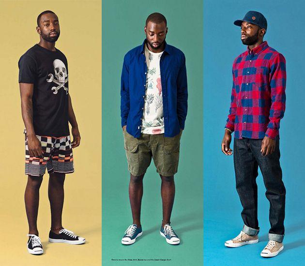 1ca51b56b1b7 (4a) TF Cargo Shorts Camouflage Pattern - (4b) Kasbah Woven Print Shirt -  OBEY Clothing 2013 Summer Mens Lookbook