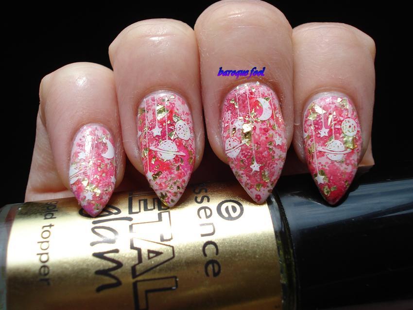 Baroque Fool Tutorial Pink Universe Nail Art My Talon Art