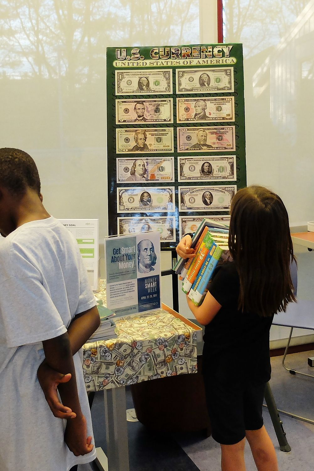 Financial Literacy Month Money Smart Week Display Olney