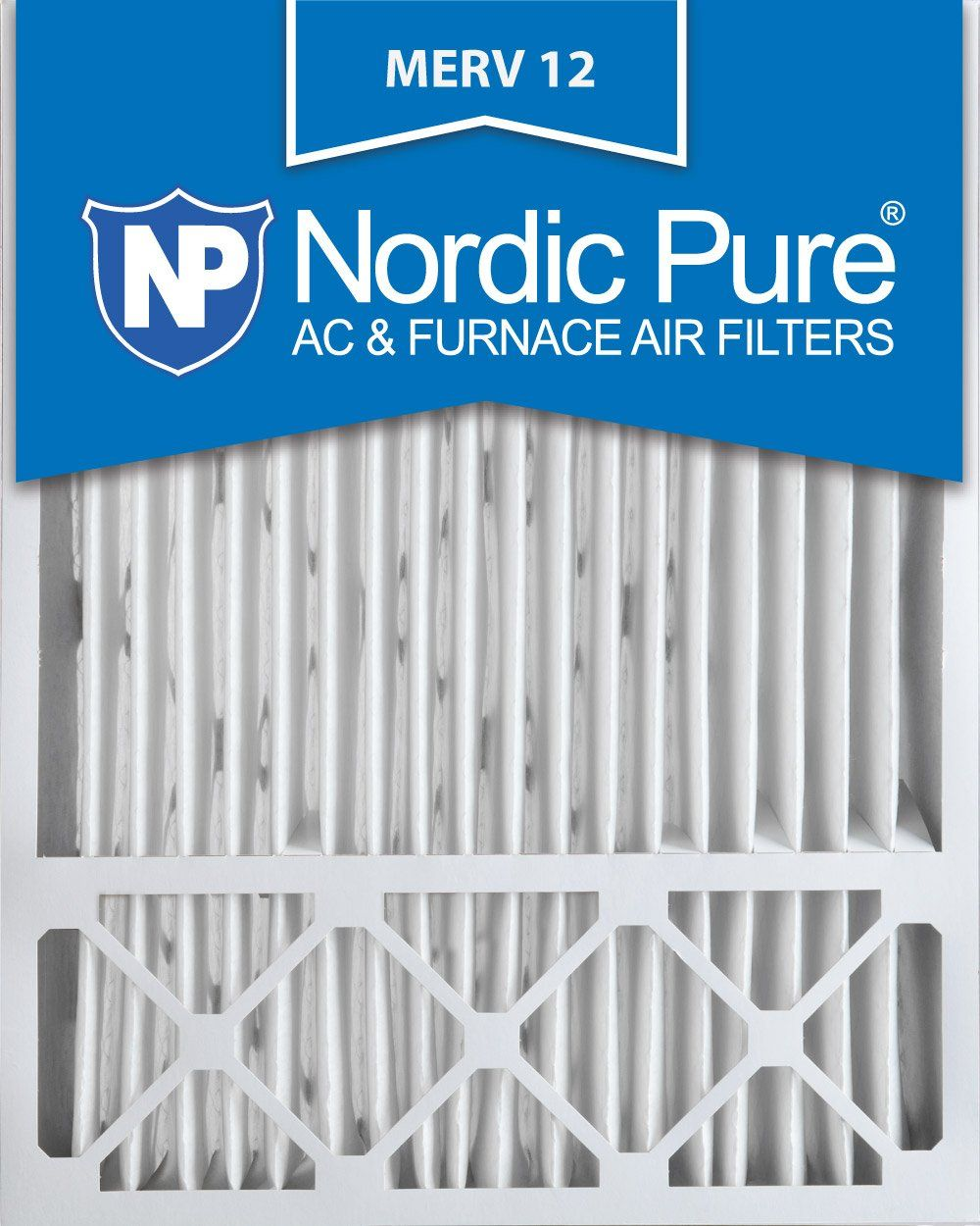 Nordic Pure 20x25x5 (43/8 Actual Depth) MERV 12 Lennox