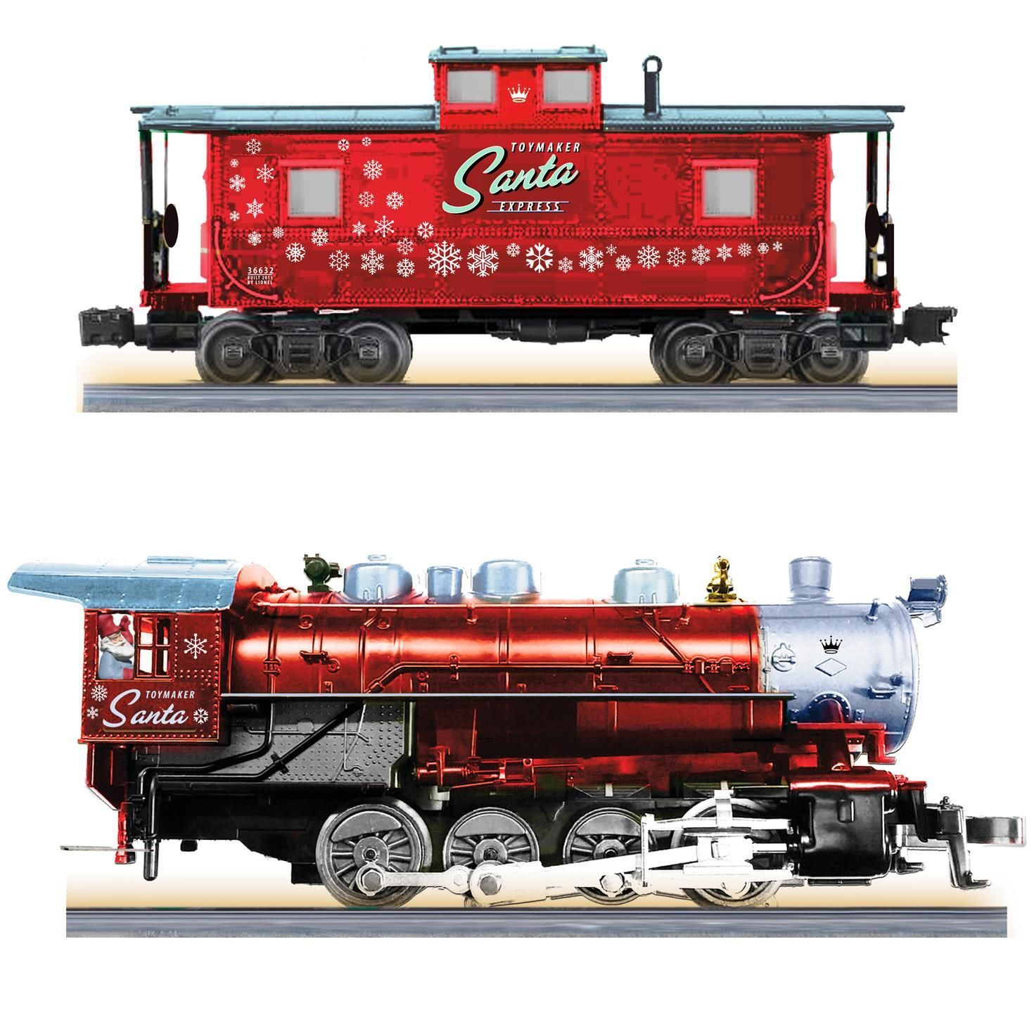 Lionel Toymaker Santa Express Complete Ready To Run Electric Train Set
