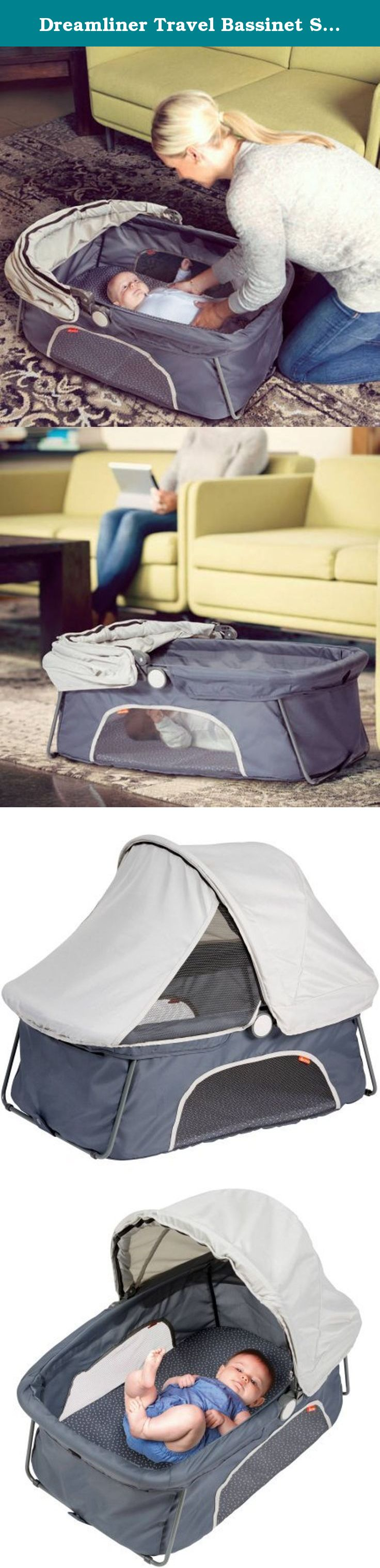 Dreamliner Travel Bassinet Safety Tested For Peace Of Mind, Gray. The Diono  Dreamliner Is