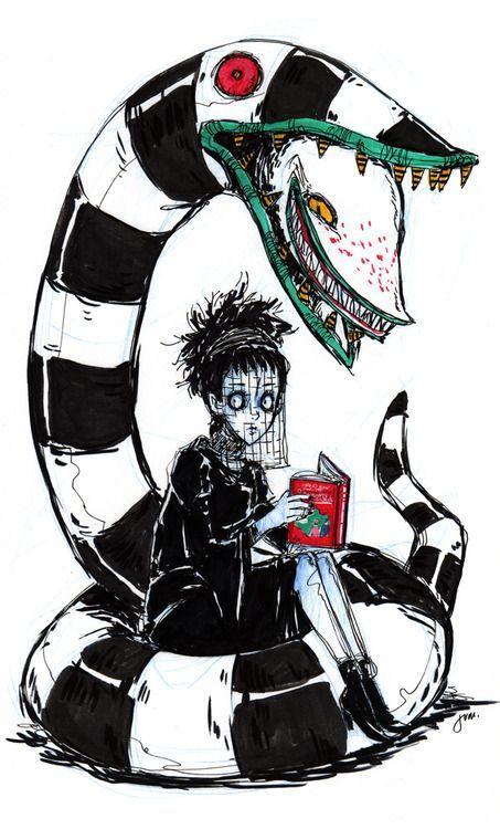 beetlejuice snake and lydia creepy