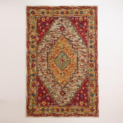 Zahra Caravan Tufted Wool Area Rug Multi 9 X 12 By