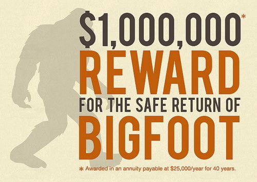 Olympia Beer Offers Million Dollar Prize For Finding Bigfoot I M Ready To Go On A Bigfoot Safari How About You Beer Offers Finding Bigfoot Bigfoot