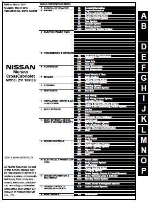 nissan murano manual 2011