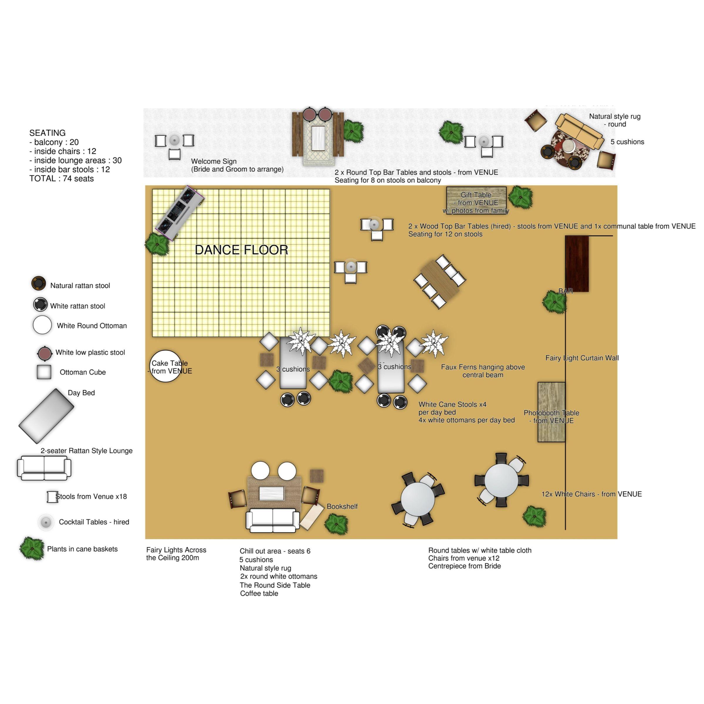 Party Layout Made On Floorplanner Com Floor Plans Create Floor Plan Interior Design Software