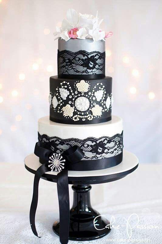 Gâteau noir blanc