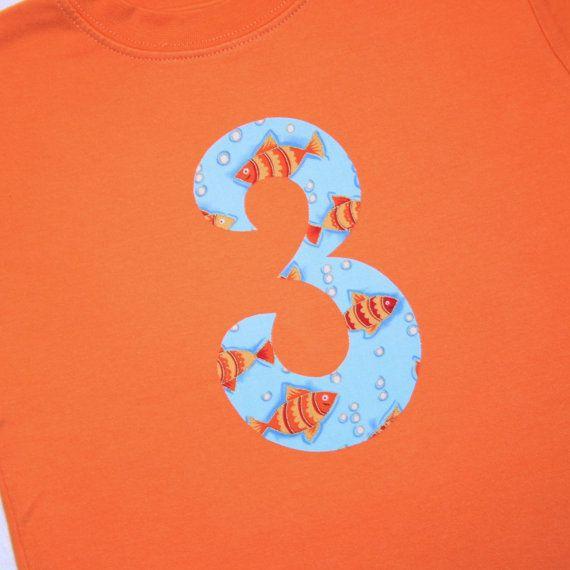 Boys Third Birthday Number 3 Shirt Short By