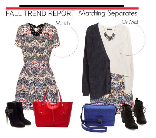 """""""Fall Trend: Matching Separates Mix or Match!"""" by grapecrush ❤ liked on Polyvore featuring Annabel Ingall, MANGO, Rupert Sanderson, Friendly Hunting, Kate Spade, Kenneth Jay Lane, 3.1 Phillip Lim, messengerbags, ankleboots and totes"""