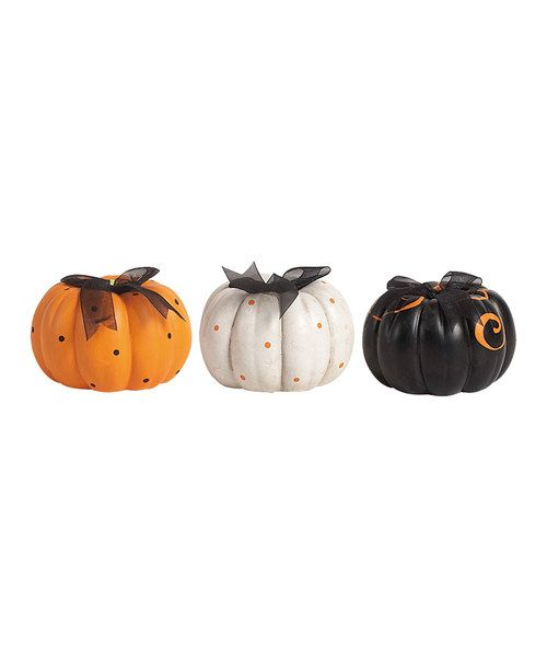 Take a look at the Pumpkin Décor Set on #zulily today!