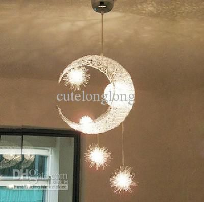 Whole Laser Light Special Moon Star Children Kid Child Bedroom Lamp Chandelier Ceiling 97 39 Dhgate