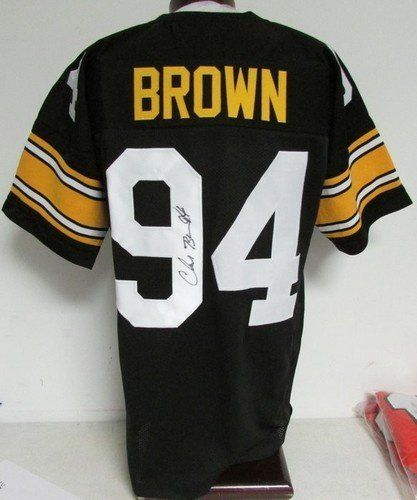 c86c5ac8f05 Chad Brown Pittsburgh Steelers Signed/Autographed Jersey JSA PSA Pass  121069 . $129.00. Chad Brown Pittsburgh Steelers Signed/Autographed Jersey  JSA PSA ...