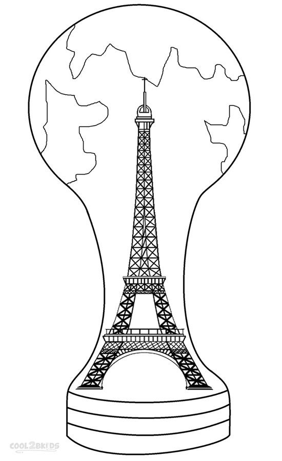 Printable Eiffel Tower Coloring Pages For Kids ...