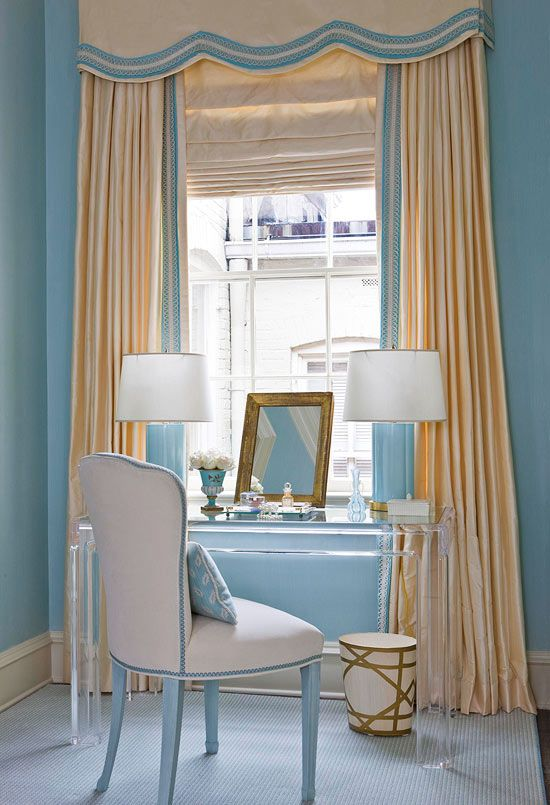 Bedroom decorating ideas window treatments