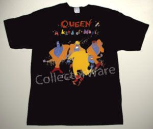 Queen A Kind Of Magic Custom Art Unique T Shirt Each T Shirt Is Individually Hand Painted A True And Unique Work Of Art Indeed To Order This Or Design You