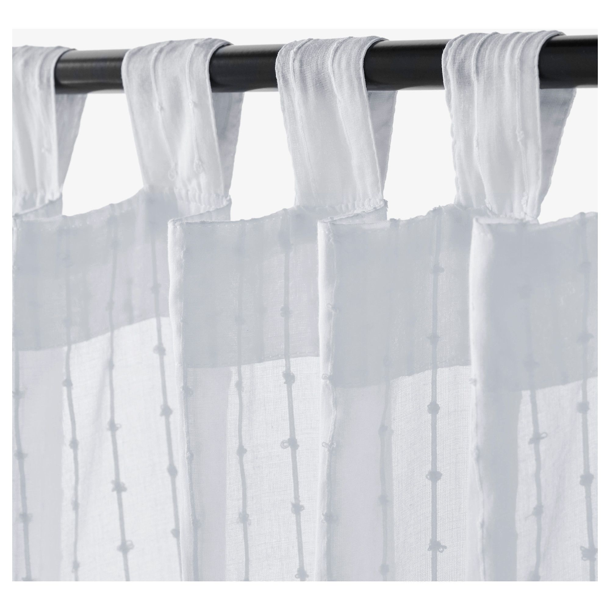 Matilda Sheer Curtains 1 Pair White Our Cottage