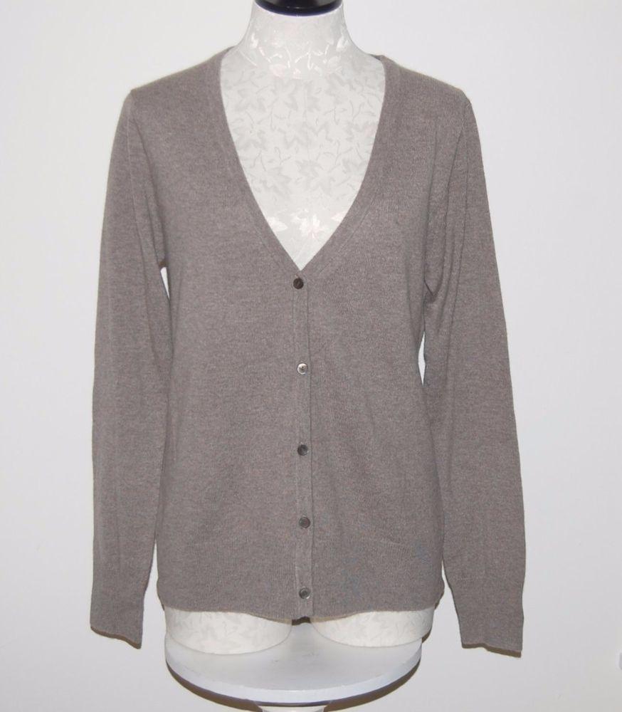 Uniqlo 100% Cashmere Beige Cardigan Sweater Top M | eBay ...
