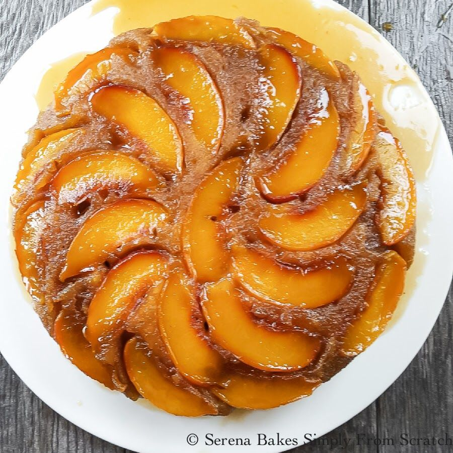 Peach Upside Down Cake is the perfect use for summer peaches!