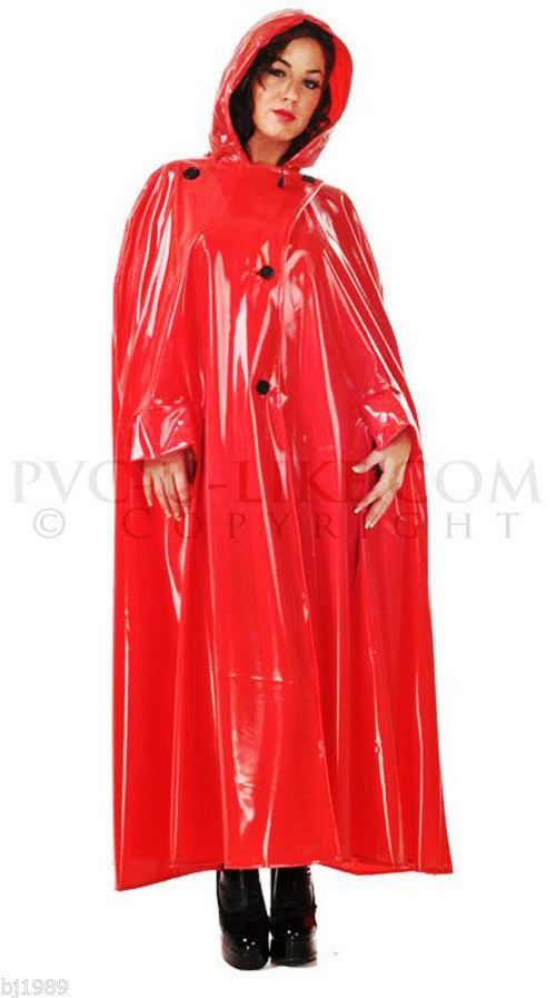 Red pvc cape~I love capes | Red delight | Pinterest | Cape ...